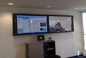 Full HD Videokonferenzanlage mit zwei 65